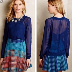 One fine day sheer pleated Anisy blouse top